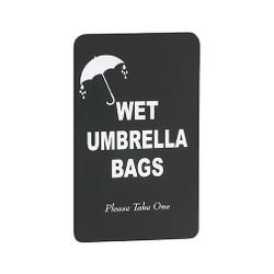 Glaro Wet Umbrella Bags Sign S117BK
