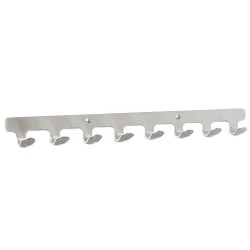 A4Forty Coat Hook Rack 172-000. Please Note: This is not the 10 hook 172-001, but is shown to illustrate the design.