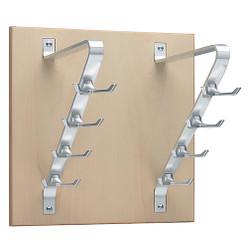Peter Pepper 2196 Vertical Coat Rack - Wall Mount - 8 Hooks