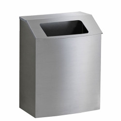 Peter Pepper HealthFIRST Trash Can IC-T-QS - Quick Ship - Steel - Hinged Open Top - Wall Mounted