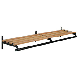 A4Forty Unlimited Coat Rack 150-118-120 - Wood - Wall Mount - Hanger Rod - 120 Inches