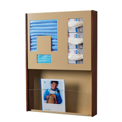 Peter Pepper HealthFIRST Infection Control - Hygiene Station ICX-1M - Wall Mounted - Magazine Rack