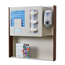 Peter Pepper HealthFIRST Infection Control - Hygiene Station ICX-2M - Wall Mounted - Magazine Rack