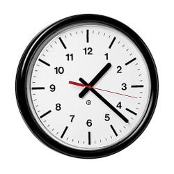 Peter Pepper 382-QS Custom Wall Clock - 12 Inch Diameter