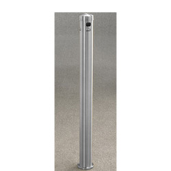 Glaro Smokers Pole 4406SA - Surface Mount - Satin Aluminum