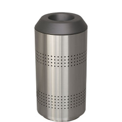 Peter Pepper TIMO Round Trash Can - Stainless Steel - With Optional Perforations