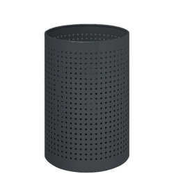 Peter Pepper Wastebasket with Square Perforations 222-W-BK - Black