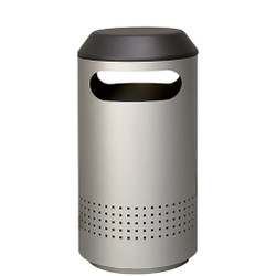 Peter Pepper Timo Round Trash with Side Openings with Optional Perforated Sides