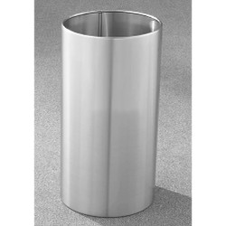 Glaro Open Top Waste Basket - 15 x 29 - 22 Gallon - 1529SA - finished in Satin Aluminum