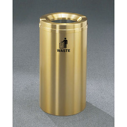 Glaro RecyclePro 1 Waste Bin - 15 x 31 - 16 Gallon - W1532BE - finished in Satin Brass, Waste Label