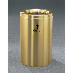 Glaro RecyclePro 1 Waste Bin - 20 x 31 - 33 Gallon - W2032BE - finished in Satin Brass, Waste Label