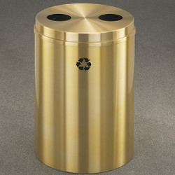 Glaro RecyclePro 2 Dual Purpose Recycling Station - 20 x 31 - 33 Gallon - BC2032BE  - finished in Satin Brass