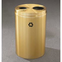 Glaro RecyclePro 2 Dual Purpose Recycling Station - 20 x 31 - 33 Gallon - BW2032BE - finished in Satin Brass,