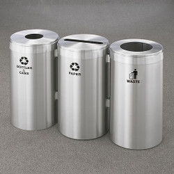 Glaro 3X RecyclePro Value Connected Recycling Station - 15 x 30 - 69 Gallon - 15423SA