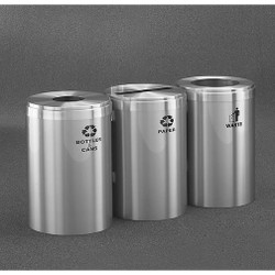 Glaro 3X RecyclePro Value Connected Recycling Station - 20 x 30 - 123 Gallon - 20423SA