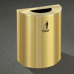 Glaro RecyclePro Profile Half Round Waste Bin - 28-1/2 x 24 x 12 - 29 Gallon - T2499BE