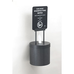 Glaro Wall Mounted Antibacterial Wipe Dispenser with Sign - W1015SSV - Silver Vein