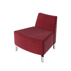 Woodstock Jefferson Outside Curve Chair - Burgundy