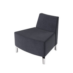 Woodstock Jefferson Outside Curve Chair - Charcoal