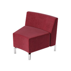 Woodstock Jefferson Inside Curve Chair - Burgundy
