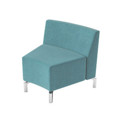 Woodstock Jefferson Inside Curve Chair - Light Blue