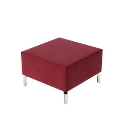 Woodstock Jefferson Ottoman - Burgundy
