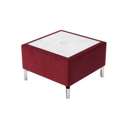 Woodstock Jefferson Rectangular Table - Burgundy