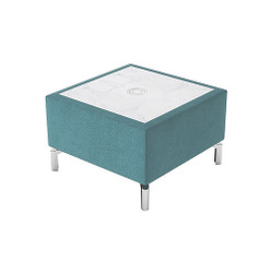 Woodstock Jefferson Rectangular Table - Light Blue