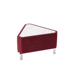 Woodstock Jefferson Triangle Table - Burgundy