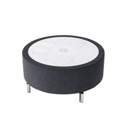 Woodstock Jefferson Round Coffee Table - Charcoal