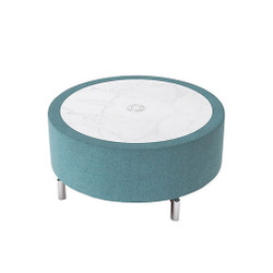 Woodstock Jefferson Round Coffee Table - Light Blue