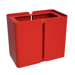 Peter Pepper SW2 Stream Deskside Recycling Wastebasket - Single Stream finished in Poppy