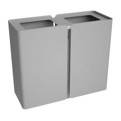 Peter Pepper SRT Stream Deskside Recycling Center - Dual Stream Finished in Aluminum Metallic