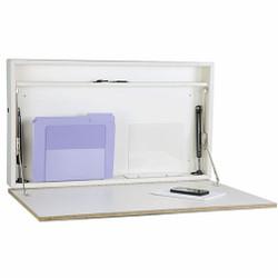 """Peter Pepper 4906-D Wall Mounted Folding Desk - Self-Closing - 30"""" Wide"""
