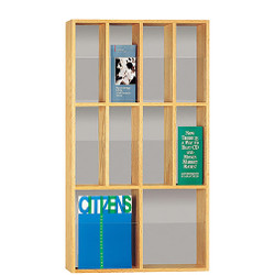 Peter Pepper 606 Magazine and Literature Rack - 10 Pocket - Vertical