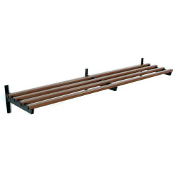 A4Forty Unlimited Wall Mount Aluminum Utility Shelf in Bronze - 150-121