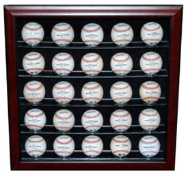 Display your prized baseball collection with this display case that holds 25 baseballs!