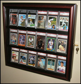 This 18 Sports Card Case is the best way to show off your prized baseball card collection
