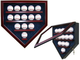 Display your prized baseball collection with this Homeplate shaped case that holds 14 baseballs!