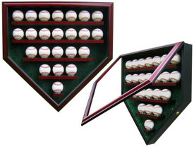 Display your prized baseball collection with this Homeplate shaped case that holds 23 baseballs!