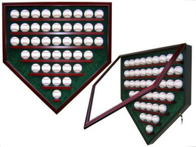 Display your prized baseball collection with this Homeplate shaped case that holds 43 baseballs!