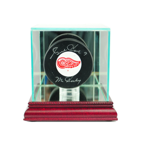 This hockey puck display case is the best way to hold your prized hockey puck