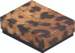 """Leopard Print Cotton Filled Boxes - 7 1/8"""" x 5 1/8"""" x 1 1/8""""H"""