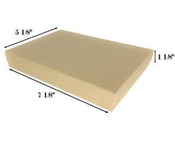 """Kraft Brown Cotton Filled Boxes - 7 1/8"""" x 5 1/8"""" x 1 1/8""""H"""