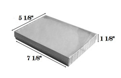 "Silver Foil Clear Top Cotton Filled Boxes - 7 1/8"" x 5 1/8"" x 1 1/8""H"