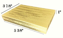 "Gold Foil Cotton Filled Boxes - 5 3/8"" x 3 7/8"" x 1""H"