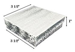 "Silver Foil Cotton Filled Boxes - 3 1/2"" x 3 1/2"" x 1""H"