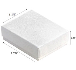 "White Swirl Cotton Filled Boxes - 1 7/8"" x 1 1/4"" x 5/8""H"