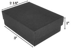 "Black Kraft Cotton Filled Boxes - 3"" x 2 1/8"" x 1""H"