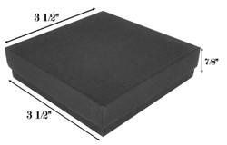"""Black Kraft Cotton Filled Boxes - 3 1/2"""" x 3 1/2"""" x 7/8""""H - (10 Boxes)"""